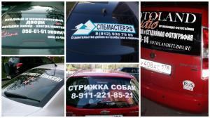 Наклейка на стекло автомобиля 5